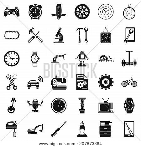 Mechanic icons set. Simple style of 36 mechanic vector icons for web isolated on white background