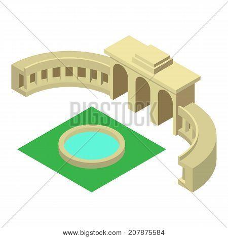 Triumphal arch belgium icon. Isometric illustration of triumphal arch belgium icon for web