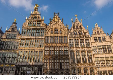 Traditional Flemish architecture in the city of Antwerpen, Belgium