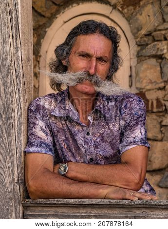 Man With Elaborate Mustache
