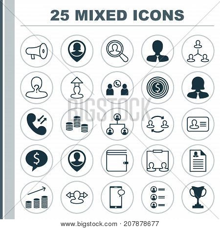 Resources Icons Set. Collection Of Location, Tournament, Talking And Other Elements