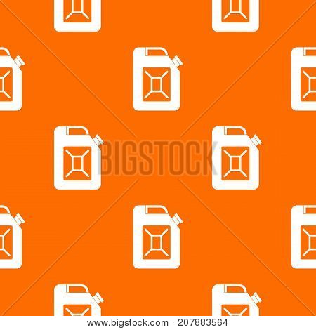 Jerrycan pattern repeat seamless in orange color for any design. Vector geometric illustration