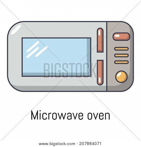 Microwave icon. Cartoon illustration of microwave vector icon for web