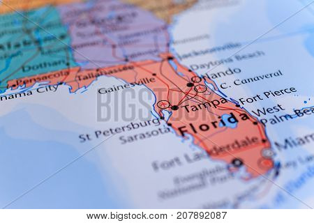 Photo on the theme of the road - florida on the map