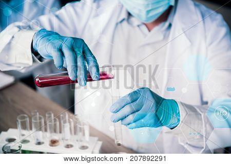 scientistand doctor working in science and chemical for health