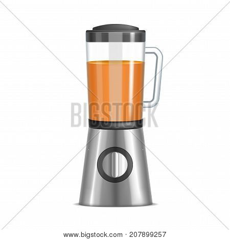Realistic 3d Closeup Kitchen Blender Healthy Food Home Menu Concept Electric Device. Vector illustration of Mixer Utensil for Blend