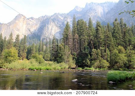 River in Yosemite national Park in USA