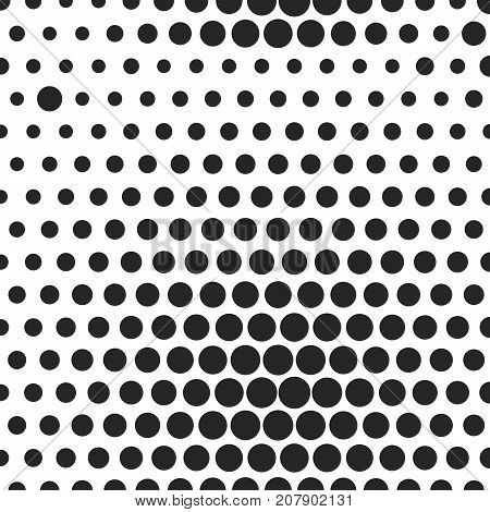 Abstract dotted halftone background. Monocrome pattern on white backdrop. Decorative template for cover, poster or banner.