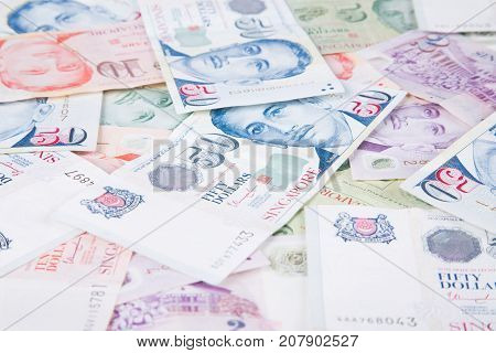 Singapore banknotes dollars ( 2-50 SGD )