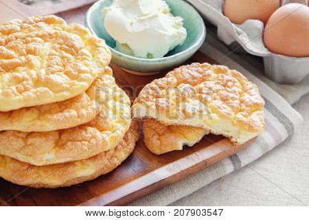 Cloud bread Oopsie bread Keto ketogenic diet paleo low carb high fat poster
