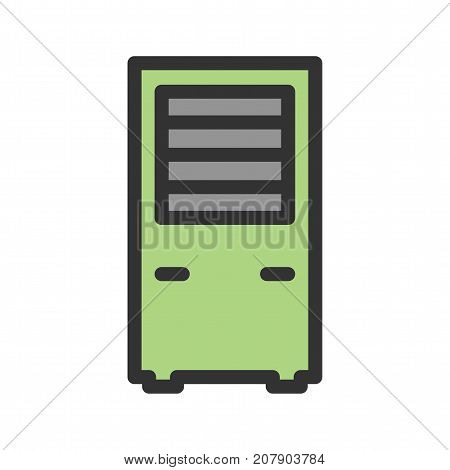 Air conditioner, cool, remote icon vector image. Can also be used for Climatic Equipment. Suitable for mobile apps, web apps and print media.