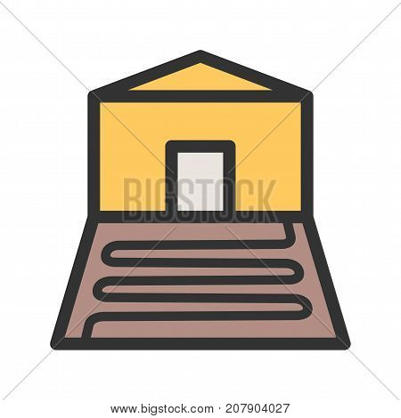 Heating, underfloor, indoor icon vector image. Can also be used for Climatic Equipment. Suitable for mobile apps, web apps and print media.