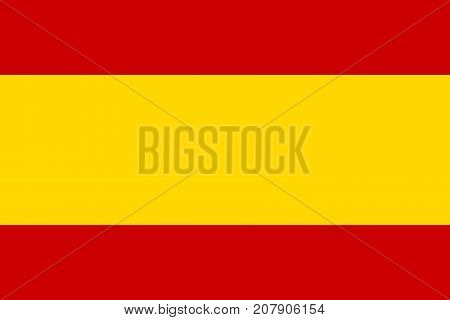 Flag of Spain in national colors and proportions vector