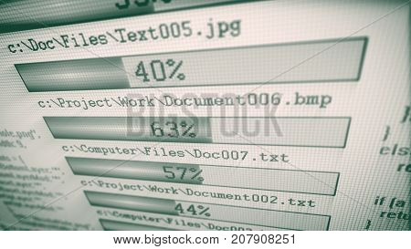 Modern Downloading Bars With Digits