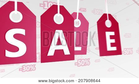 New Year Sales Tags Illustration