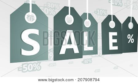 Abstract Grey Sales Tags Illustration