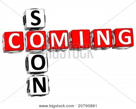 3D Cooming Soon Crossword