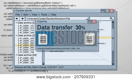 Abstract Data Transfer Illustration