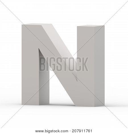 Matte Grey Font N