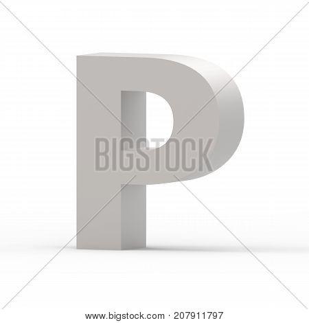 Matte Grey Font P