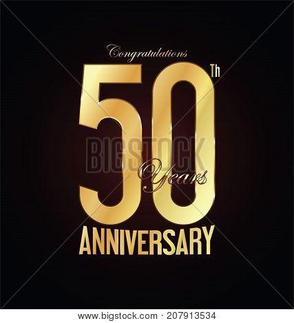 Anniversary golden sign vector on black background