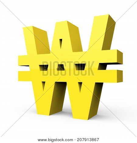 Light Yellow Won Sign