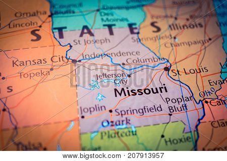 Vinnitsa, Ukraine - August 25 , 2017: Map Of Missouri