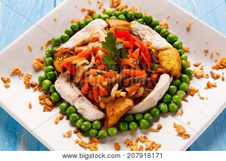 Chinese food - chicken with vegetables