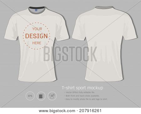 T-shirt sport design template for football club or all sportswear, Front and back shots available, Ready for customization logo and name, Easily to change colors and lettering styles in your team.