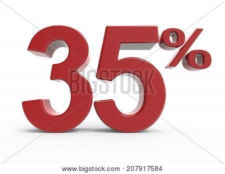 3D Rendering Of A 35% Symbol