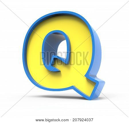 3D Toylike Letter Q