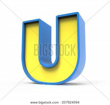 3D Toylike Letter U