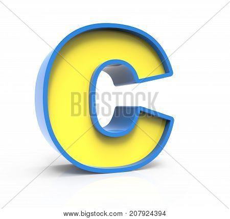 3D Toylike Letter C