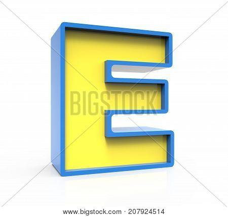 3D Toylike Letter E