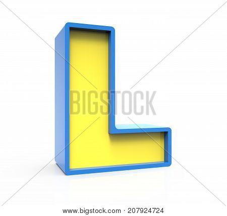 3D Toylike Letter L