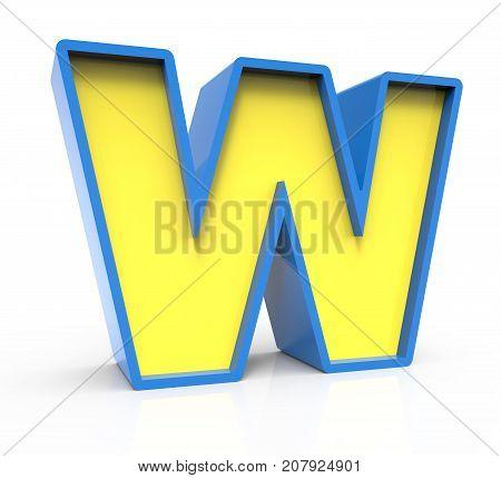3D Toylike Letter W