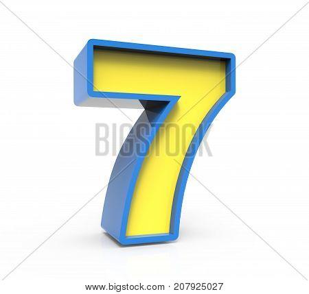 3D Toylike Number 7