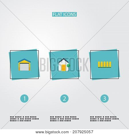 Flat Icons Depot, Wooden Barrier, Choice And Other Vector Elements
