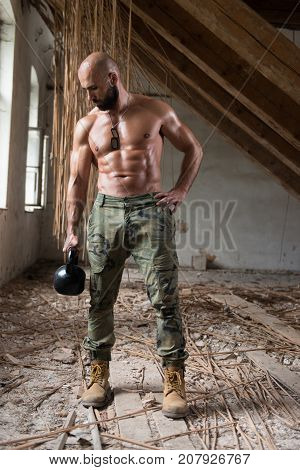 Kettle Bell Exercise In Ruins