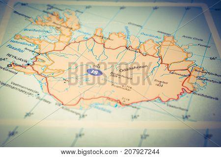 Vinnitsa Ukraine - August 25 2017: Reykjavik map