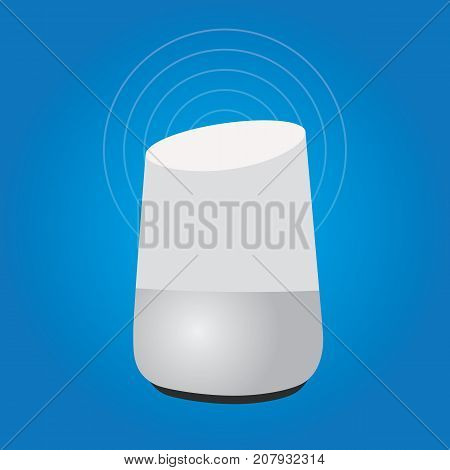 smart home assistant intelligence speaker technology device internet of things smart speaker vector