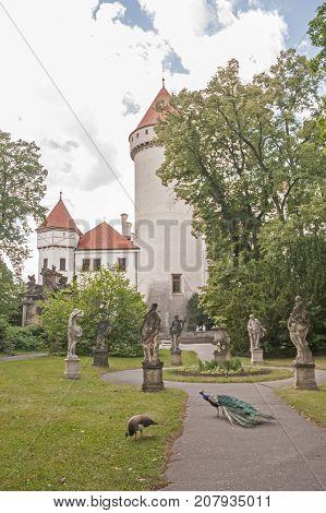 It is image of Konopiště castle in Czech Republic.