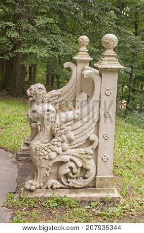 It is image of bench in Konopiště castle in Czech Republic.