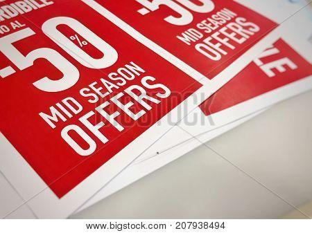 50% off Mid season sales red label