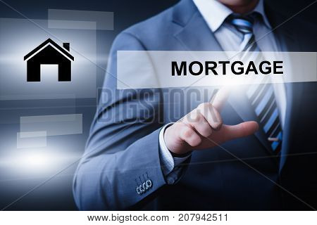Mortgage Loan Property Business Technology Internet Concept.
