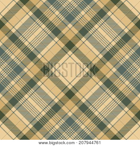 Tartan check plaid seamless fabric texture. Vector illustration.