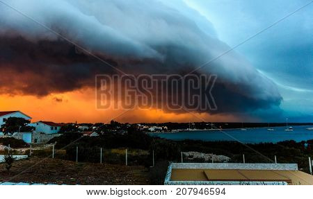 Thunderstorm Over The Small Island Of Silba In Adriatic Sea.