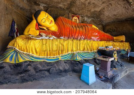 Reclining Buddha, Adams Peak