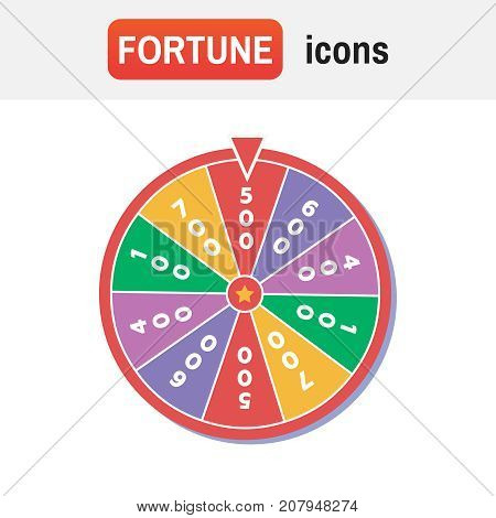 Wheel Fortune Spin. Wheel Of Fortune Vector Illustration