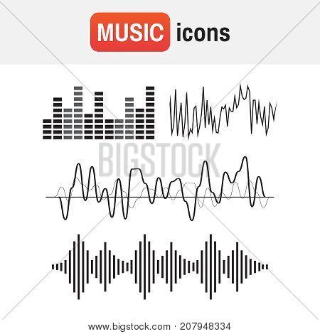 Wave Sound Soundwave. Sound Waves Vector.